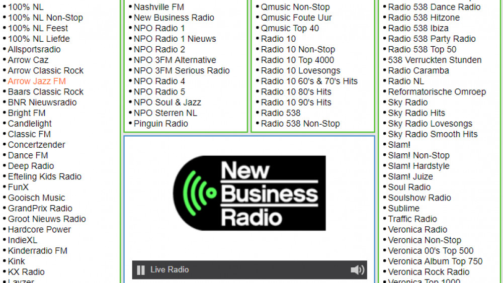 NBR op Radio FM